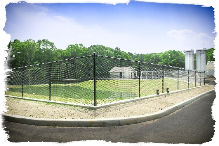 eastern chain link fence is installed by national fence and supply